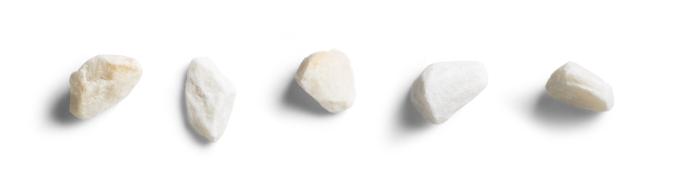 Five light stones horizontal in line